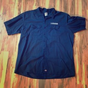 Blue Dickies 3XL button down embroidered shirt!
